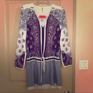 Multicolor, multiprint dress.